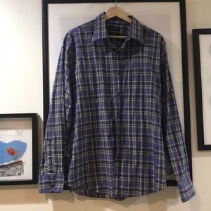 Dockers purple and green plaid button up